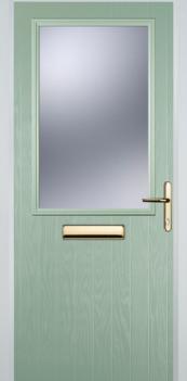FD30s Cottage Half Glazed Composite Fire Door