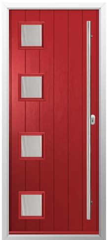 Composite Door Prices - Red Solidor Timber Composite Door
