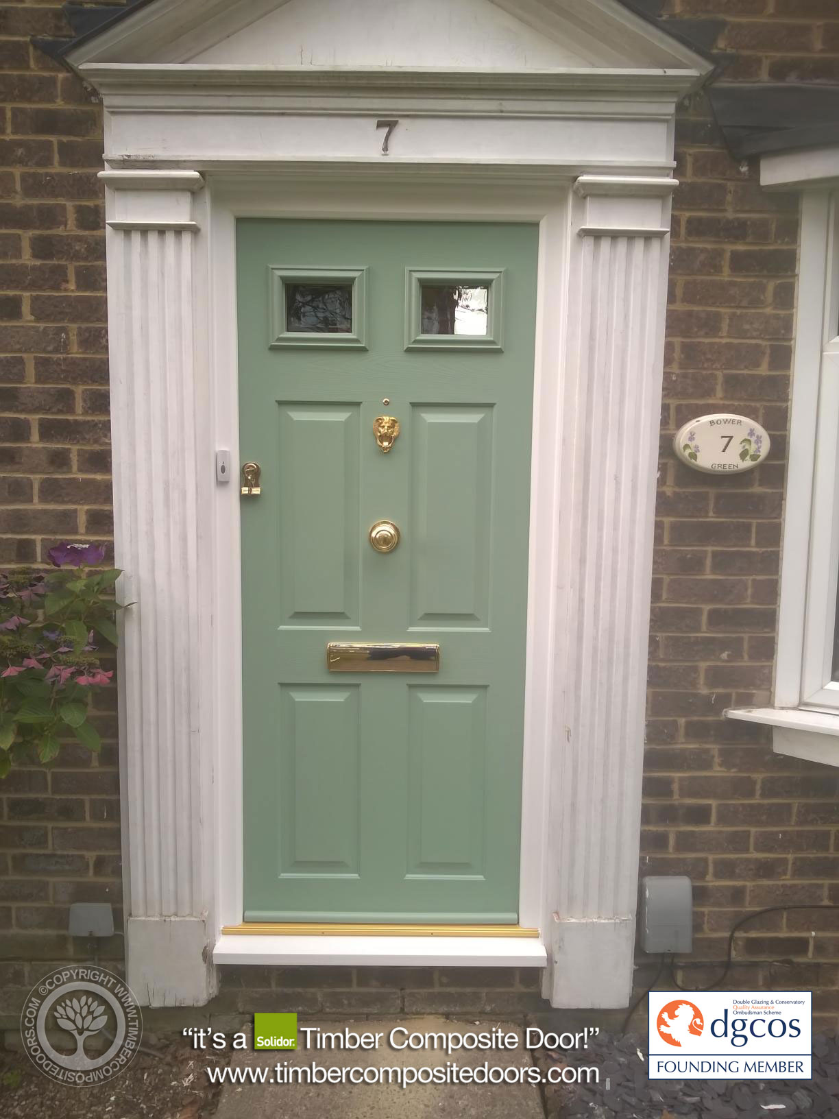 Chartwell Green Tenby Solidor Timber Composite Door 6