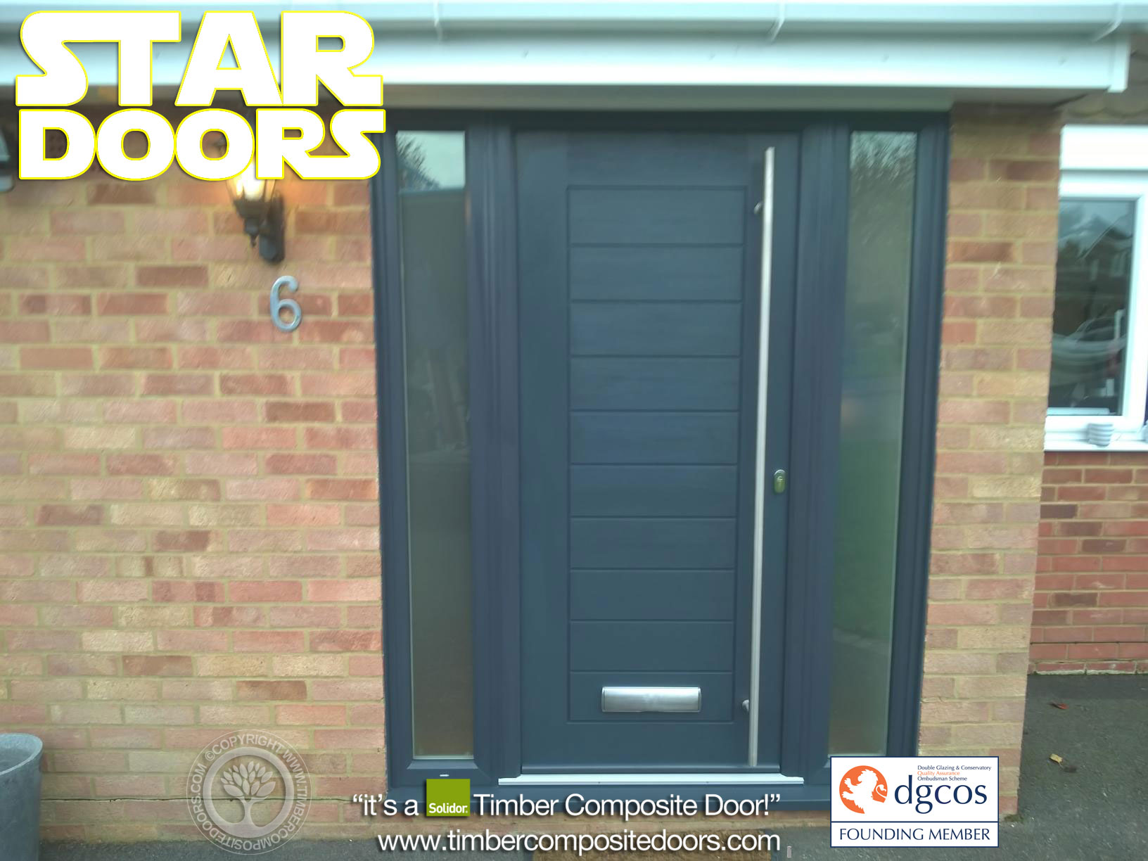 Anthracite Grey Palermo Solidor Timber Composite Door 2