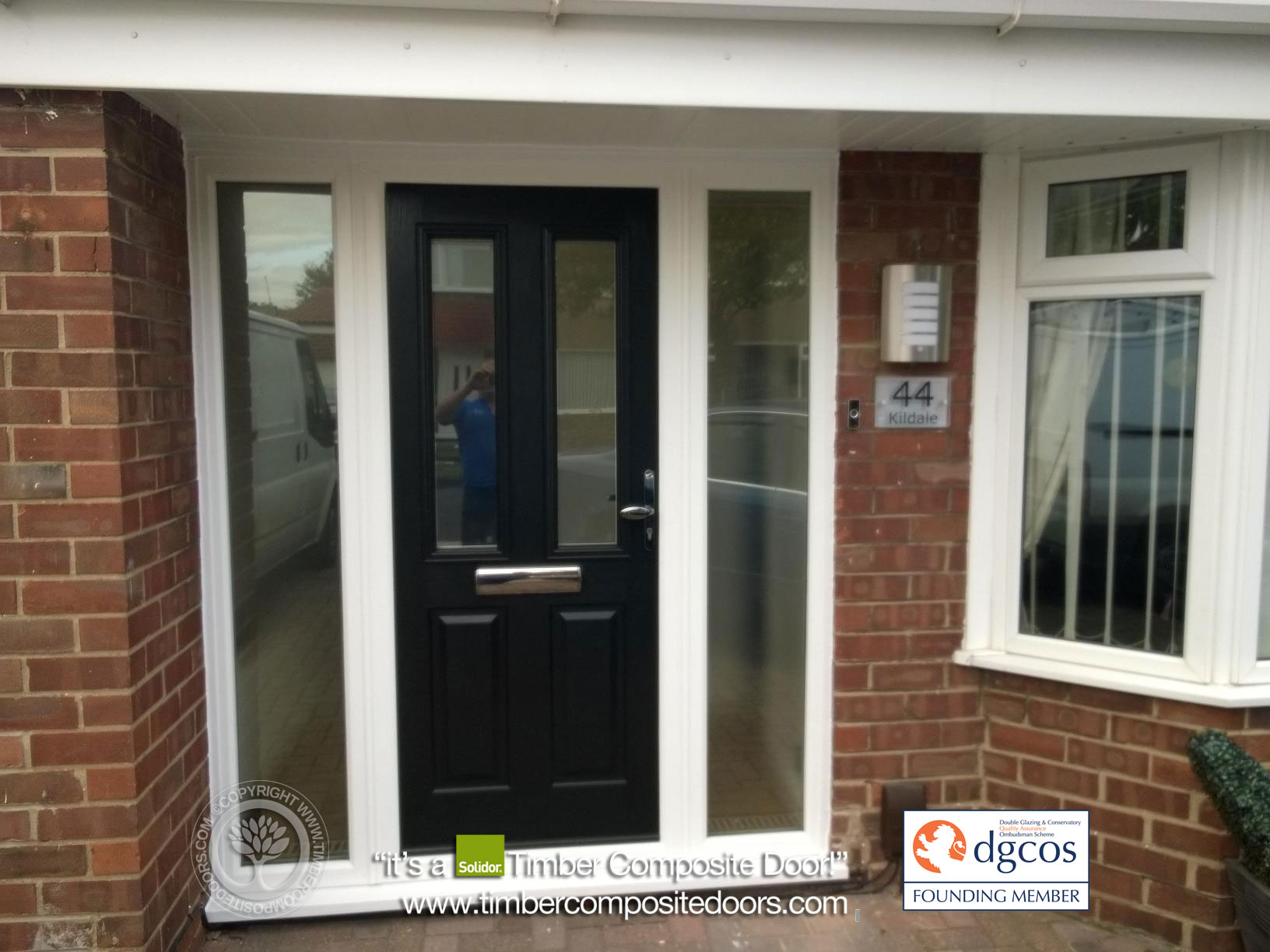 Black Ludlow Solidor Timber Composite Door 2 Composite