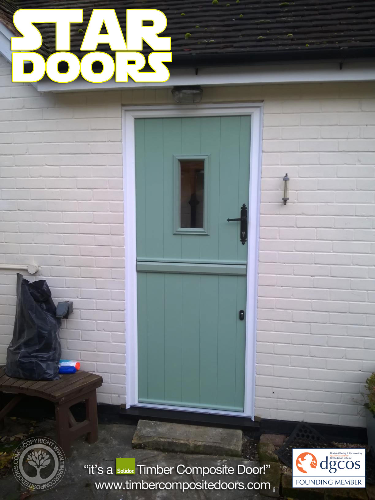 Chartwell Green Flint Solidor Timber Composite Stable Door