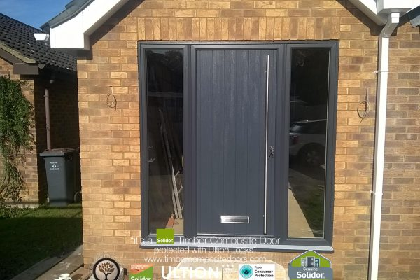 Anthracite Grey Ancona Solid with Side Panels
