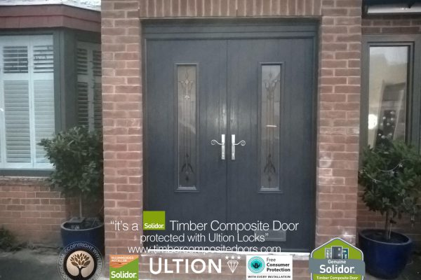 Anthracite Grey Flint 5 French Doors