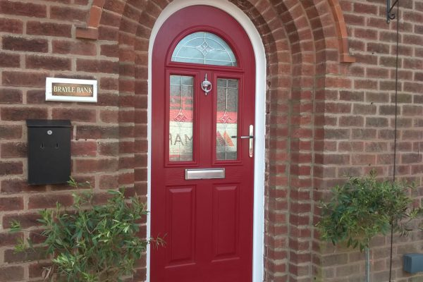 Red Conway Arched Door