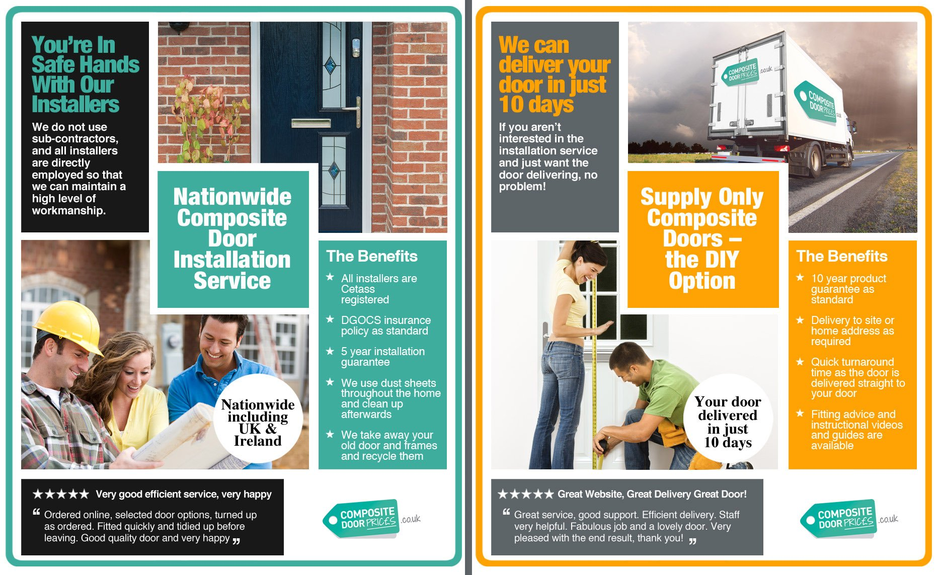 Install Or Delivery Composite Door Prices 0800 Handyman Changing A Light Fitting Wiring Doors